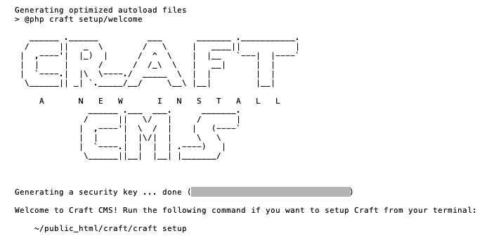 Craft CMS installation using Composer