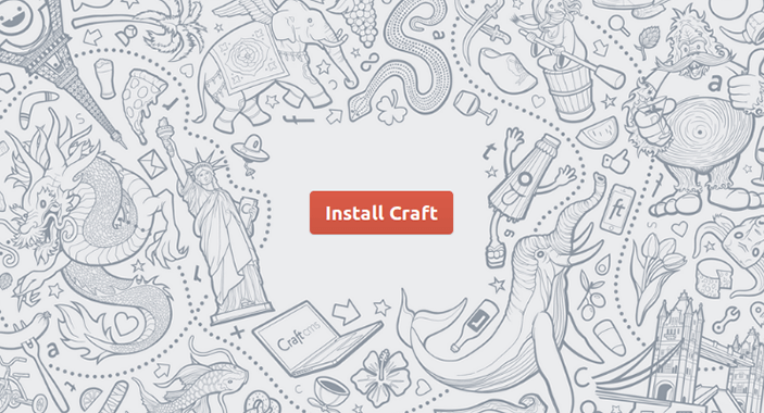 Craft CMS Install Screen